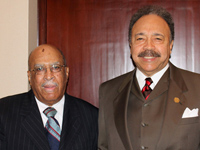 Bennie McRae, Jr. and HU President Dr. William R. Harvey