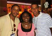 Jason Moore, Brittany Henry and Edwin Jones in Hollywood, Calif. this summer enjoying some of the perks of being in the FDL program.