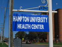 Hampton University Health Center Sign
